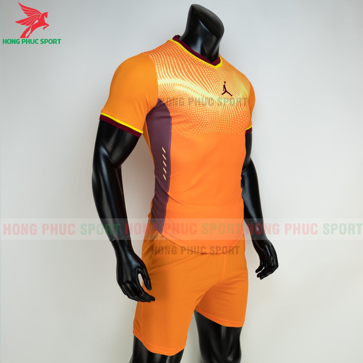 Áo đá banh không logo JORDAN WAVE 2021 màu cam (phải)