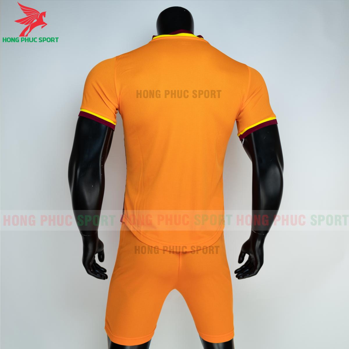 Áo đá banh không logo JORDAN WAVE 2021 màu cam (sau)