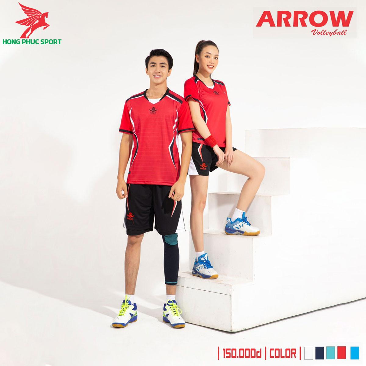Áo thi đấu bóng chuyền Overate Arrow 2021 màu đỏ