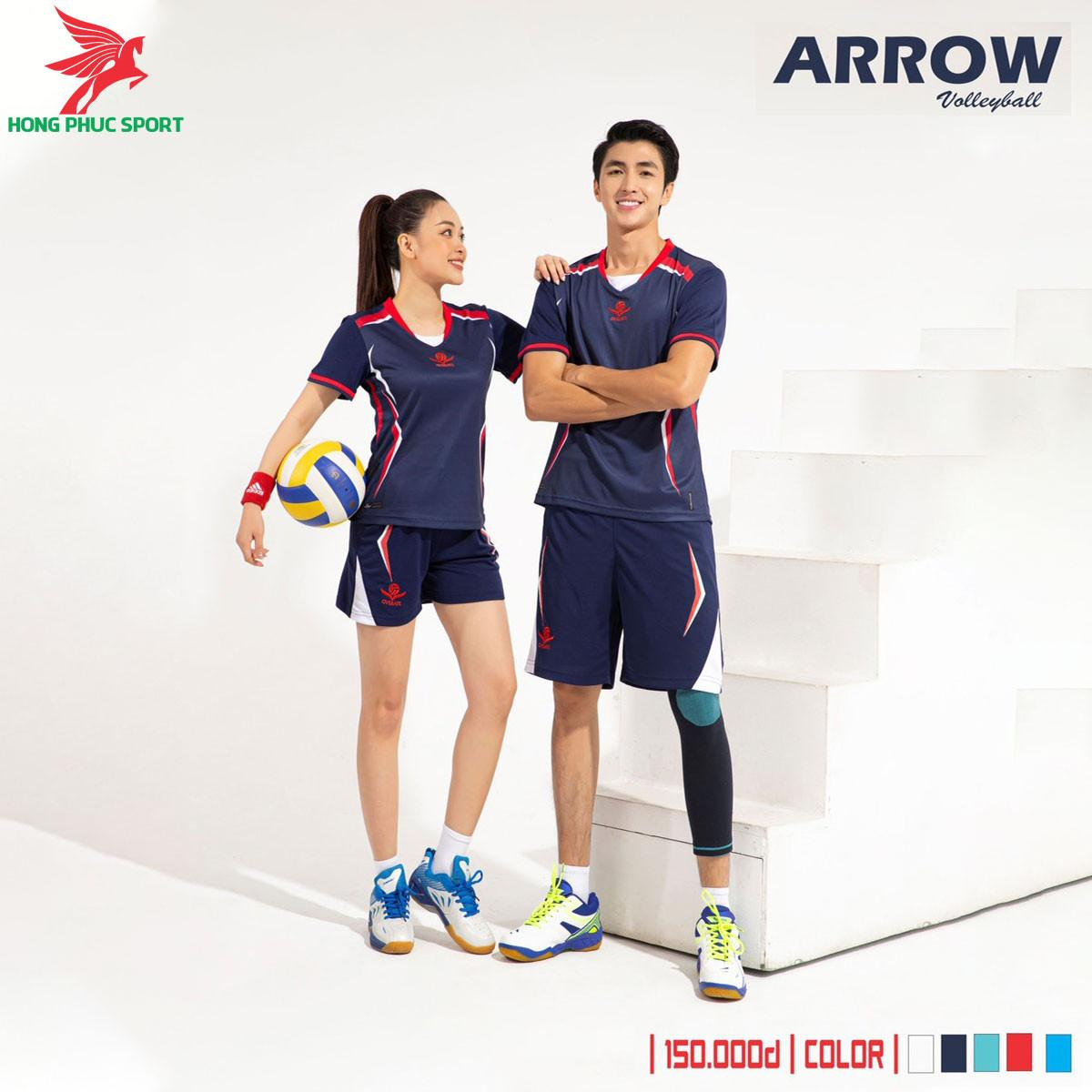 Áo thi đấu bóng chuyền Overate Arrow 2021 màu Tím than