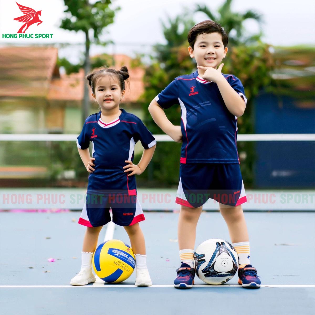 Áo bóng chuyền trẻ em Beyono 2020 Legend màu xanh