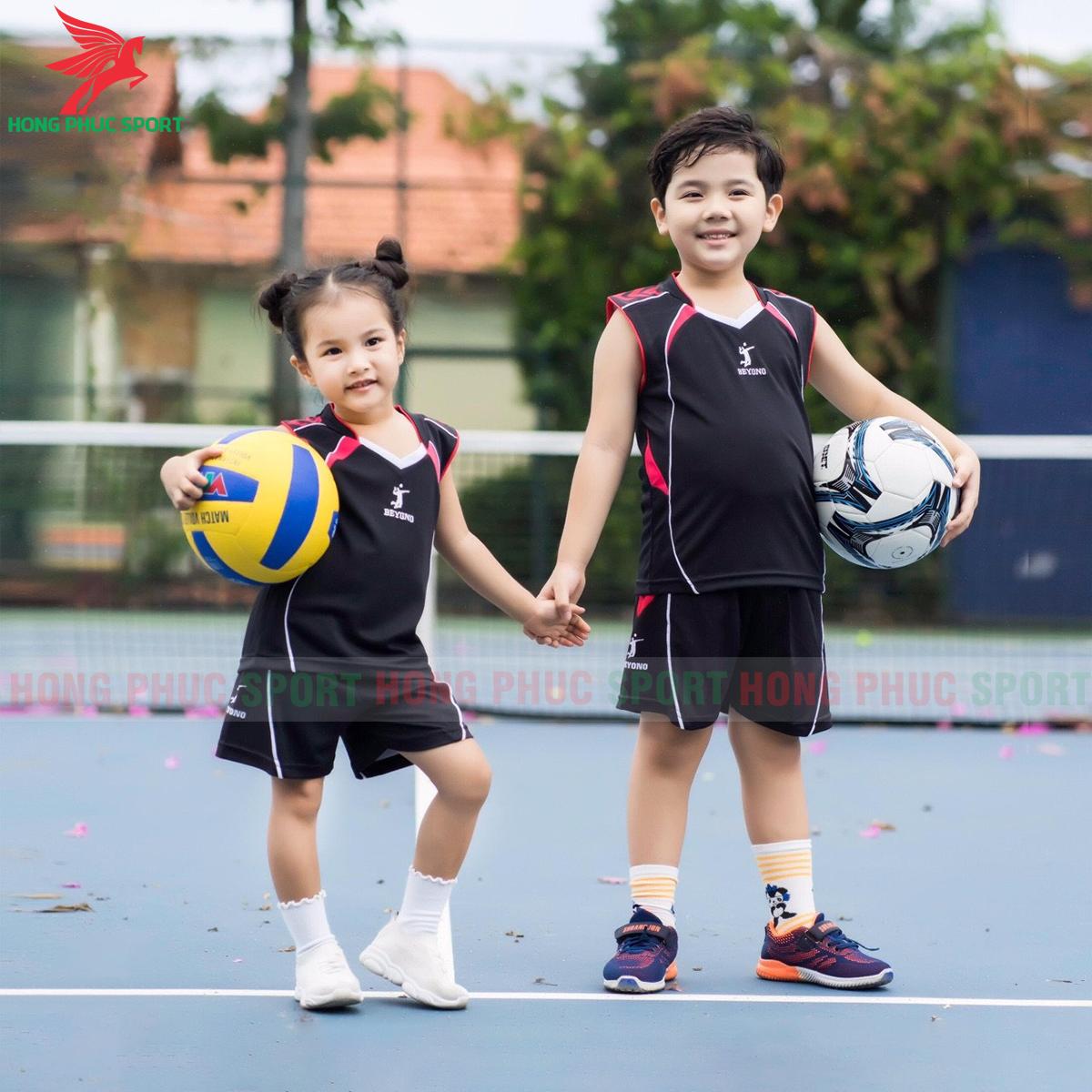 Áo bóng chuyền trẻ em Beyono 2020 Advance màu đen