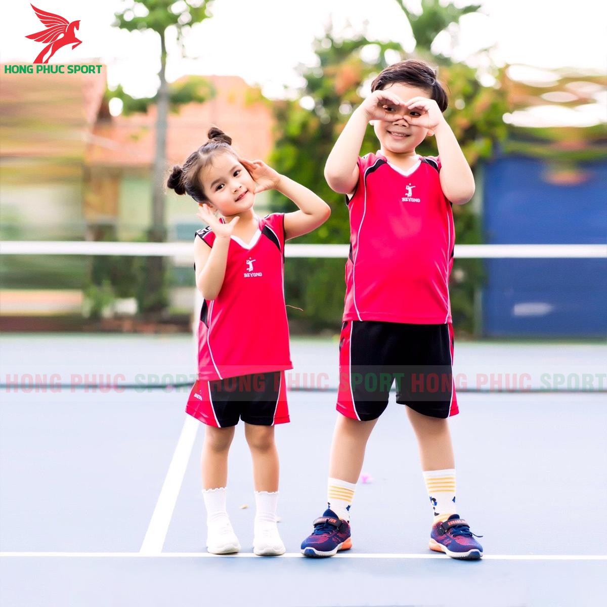 Áo bóng chuyền trẻ em Beyono 2020 Advance màu đỏ
