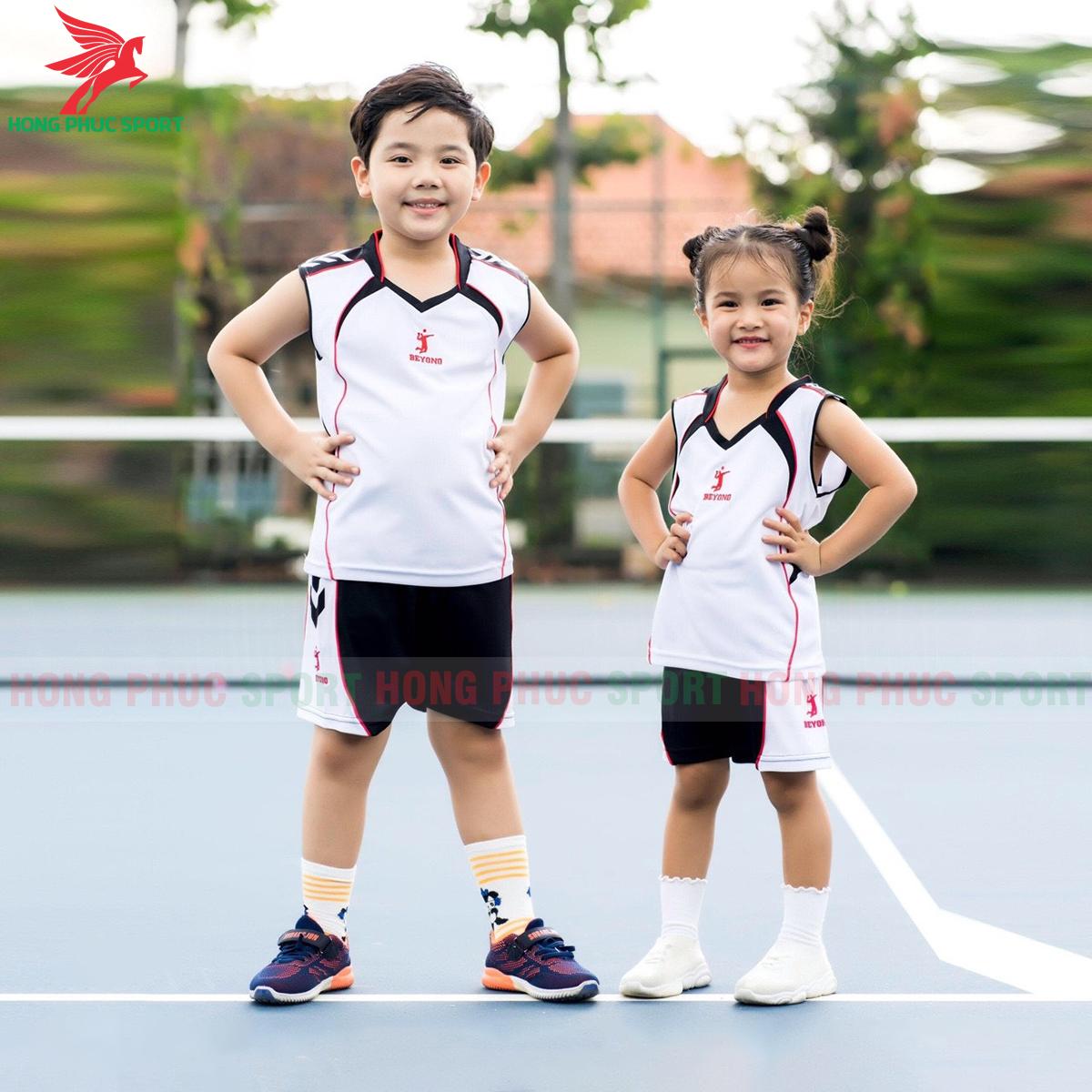 Áo bóng chuyền trẻ em Beyono 2020 Advance màu trắng