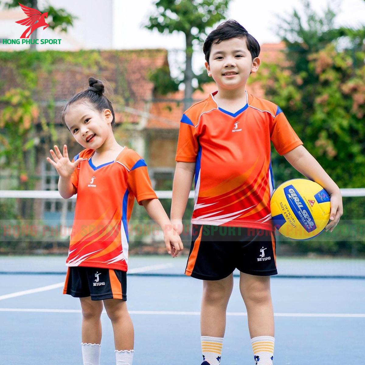 Áo bóng chuyền trẻ em Beyono 2020 Striving màu cam