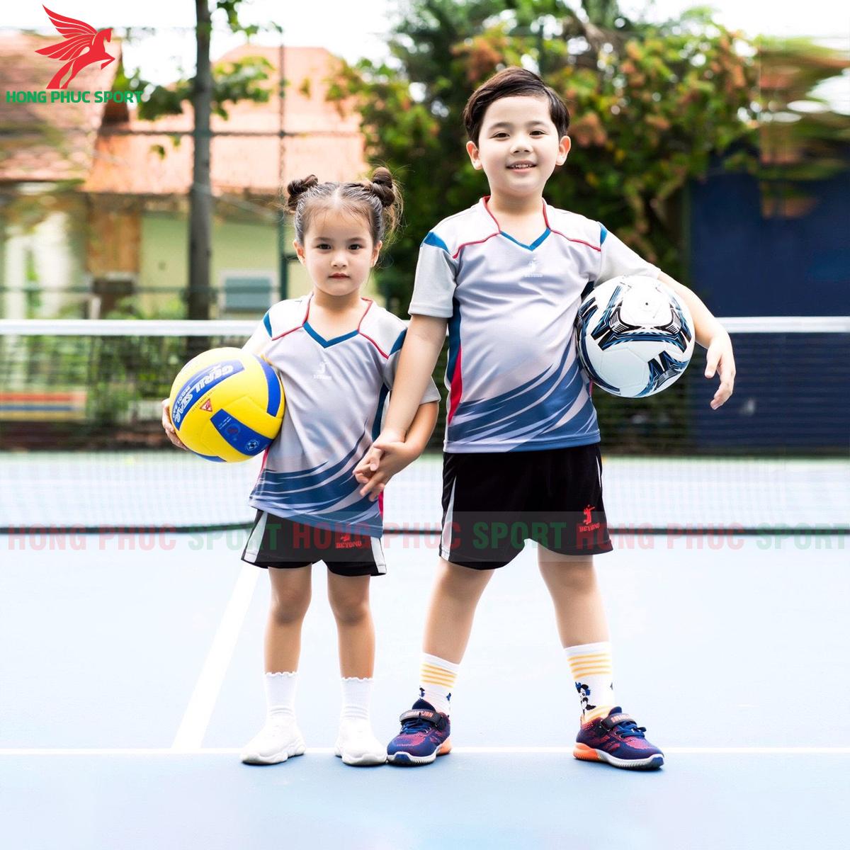 Áo bóng chuyền trẻ em Beyono 2020 Striving màu xám