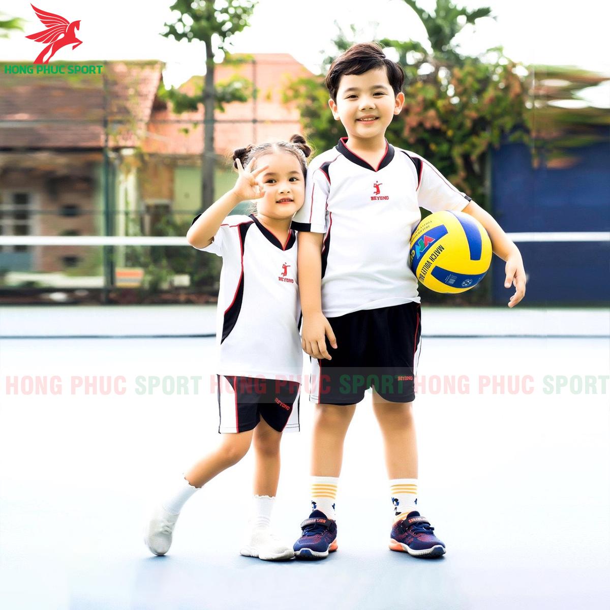 Áo bóng chuyền trẻ em Beyono 2020 Viking màu trắng