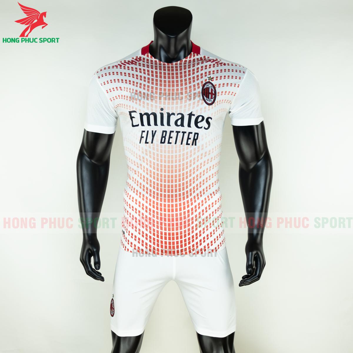 Áo bóng đá AC Milan 2020 2021 sân khách (trước)