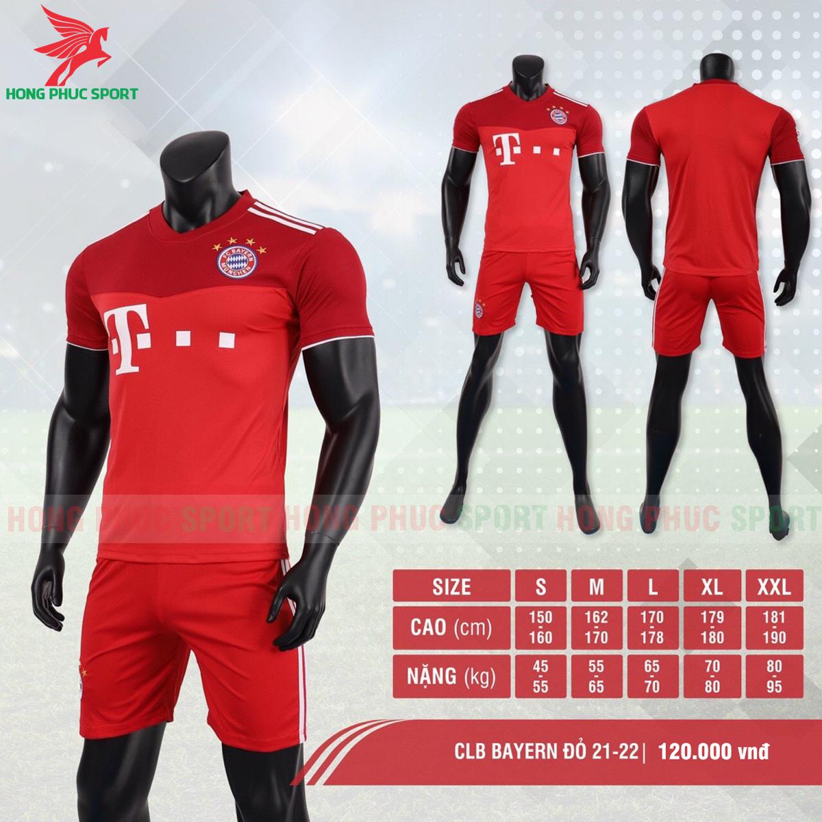 Áo đấu Bayern Munich 2021 2022 sân nhà