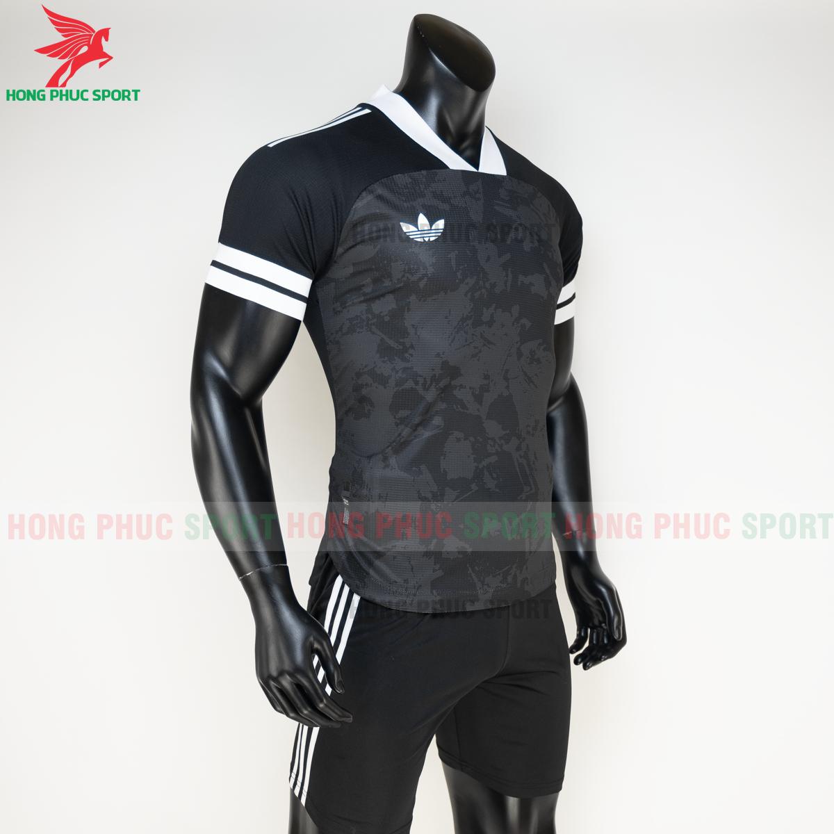 Áo đá banh không logo Condivo ba lá Adidas 2020 2021 mẫu 3 (phải)