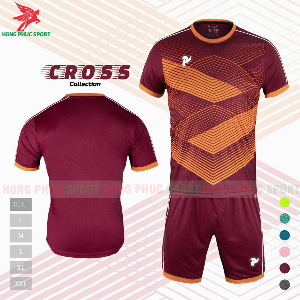 Áo đấu không logo Justplay Cross 2021 màu đỏ đô