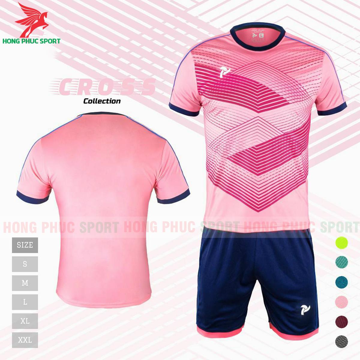 Áo đấu không logo Justplay Cross 2021 màu hồng