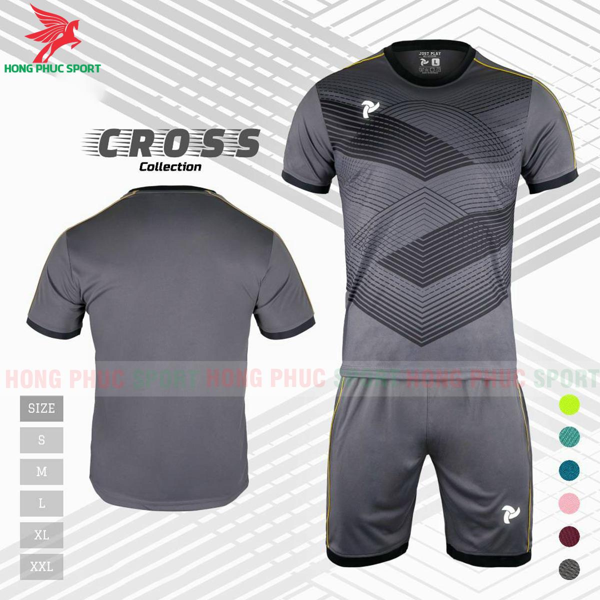 Áo đấu không logo Justplay Cross 2021 màu xám