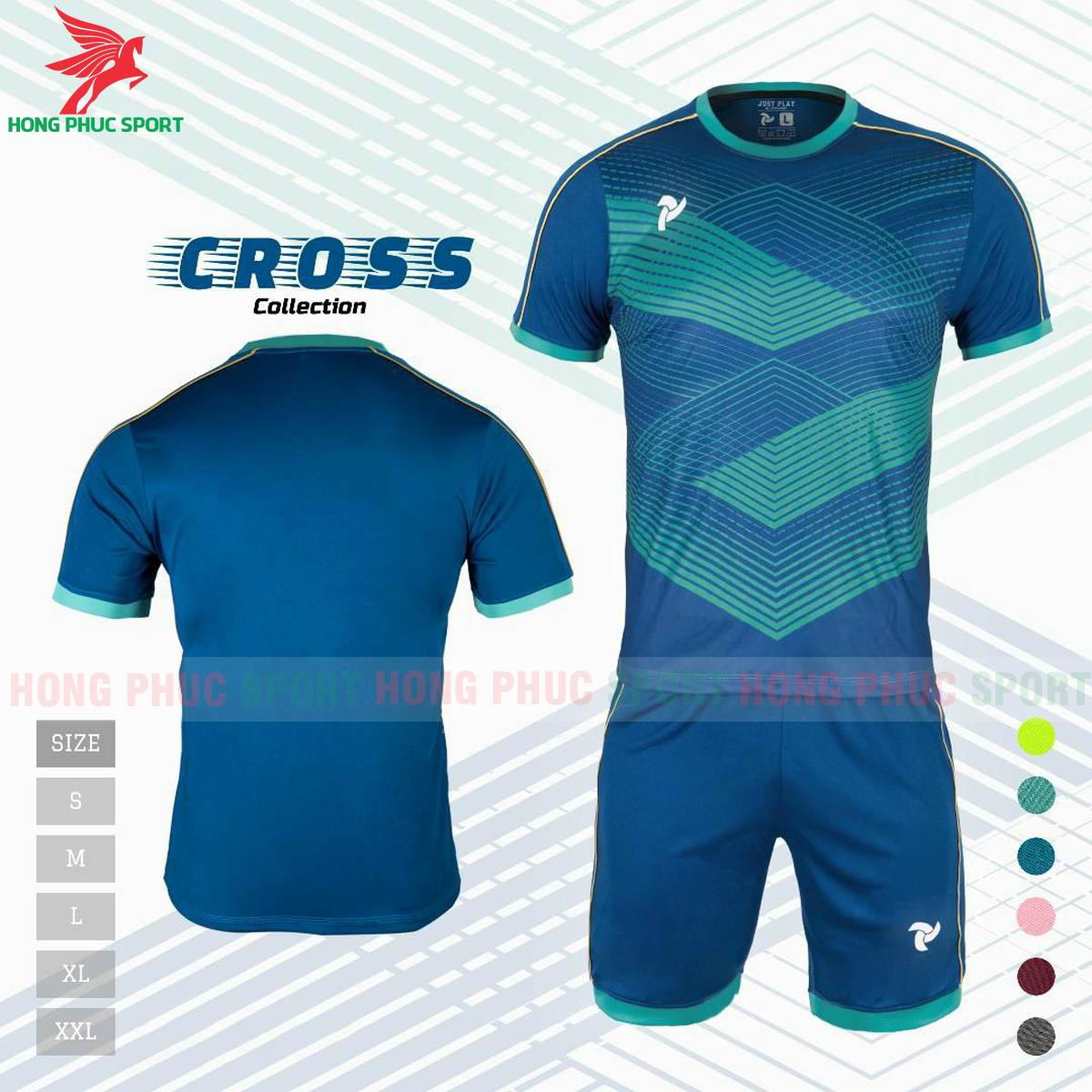 Áo đấu không logo Justplay Cross 2021 màu xanh dương