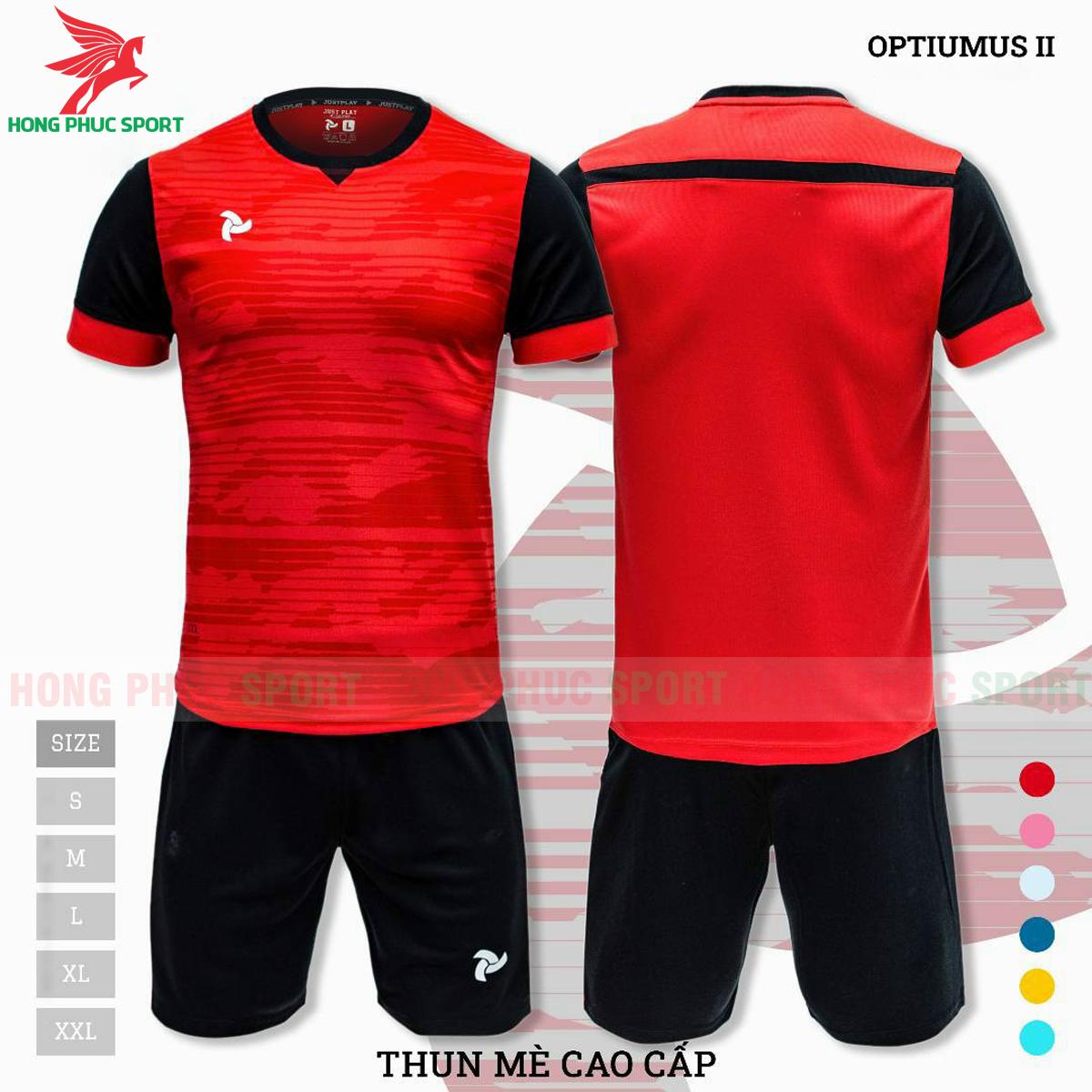 Áo đấu không logo Justplay Optiumus II 2021 màu đỏ