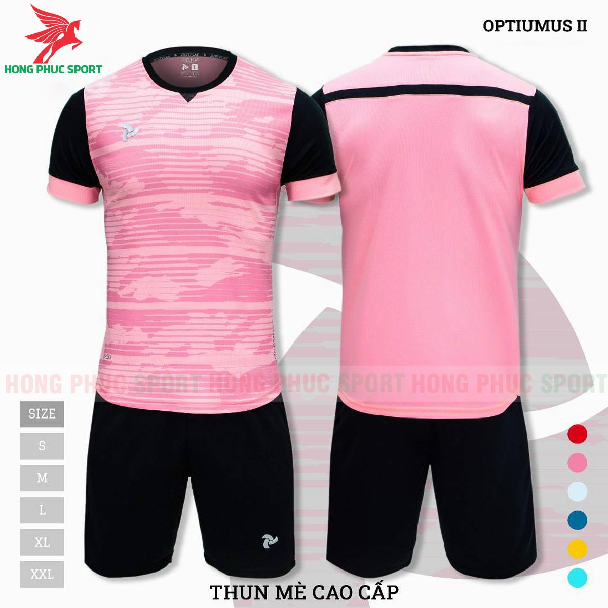 Áo đấu không logo Justplay Optiumus II 2021 màu hồng