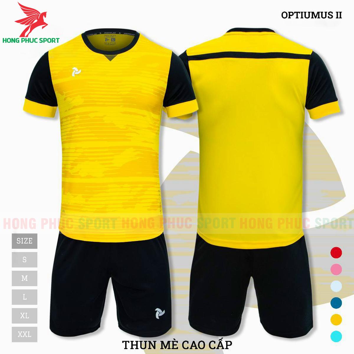 Áo đấu không logo Justplay Optiumus II 2021 màu vàng