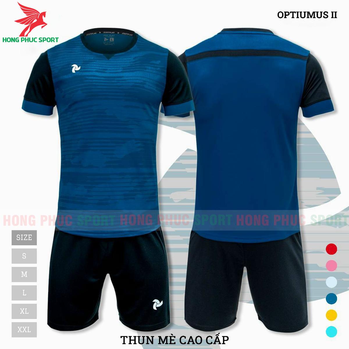 Áo đấu không logo Justplay Optiumus II 2021 màu xanh dương