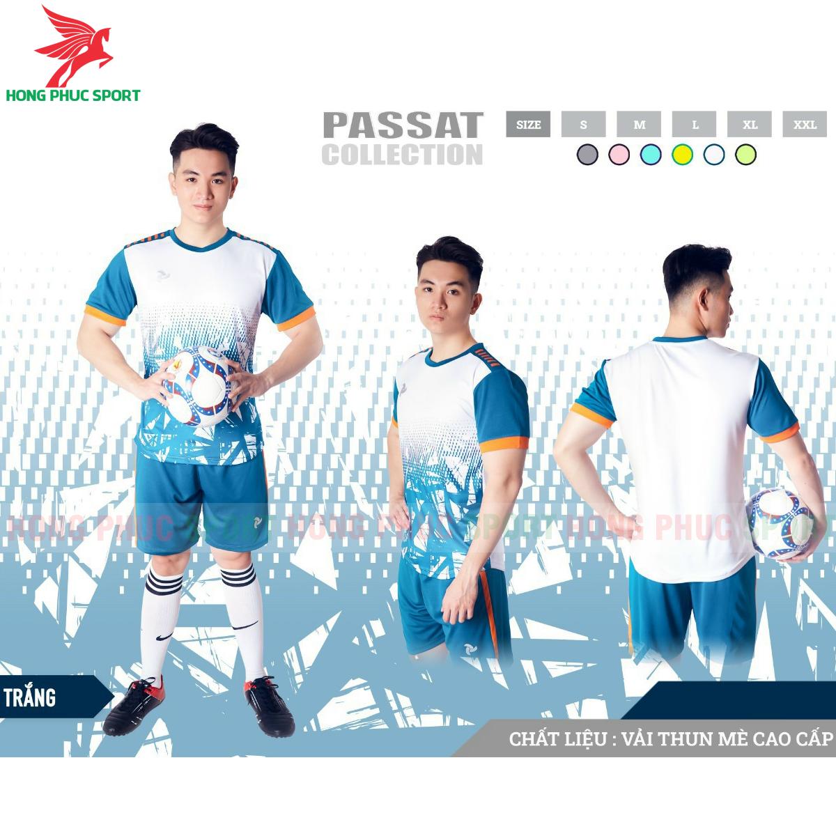 Áo đấu không logo Justplay Passat 2021 màu trắng