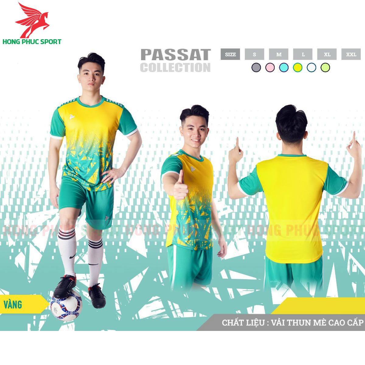 Áo đấu không logo Justplay Passat 2021 màu vàng