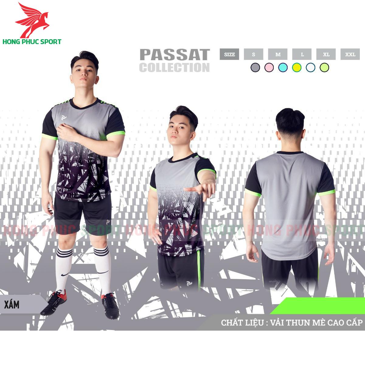 Áo đấu không logo Justplay Passat 2021 màu xám