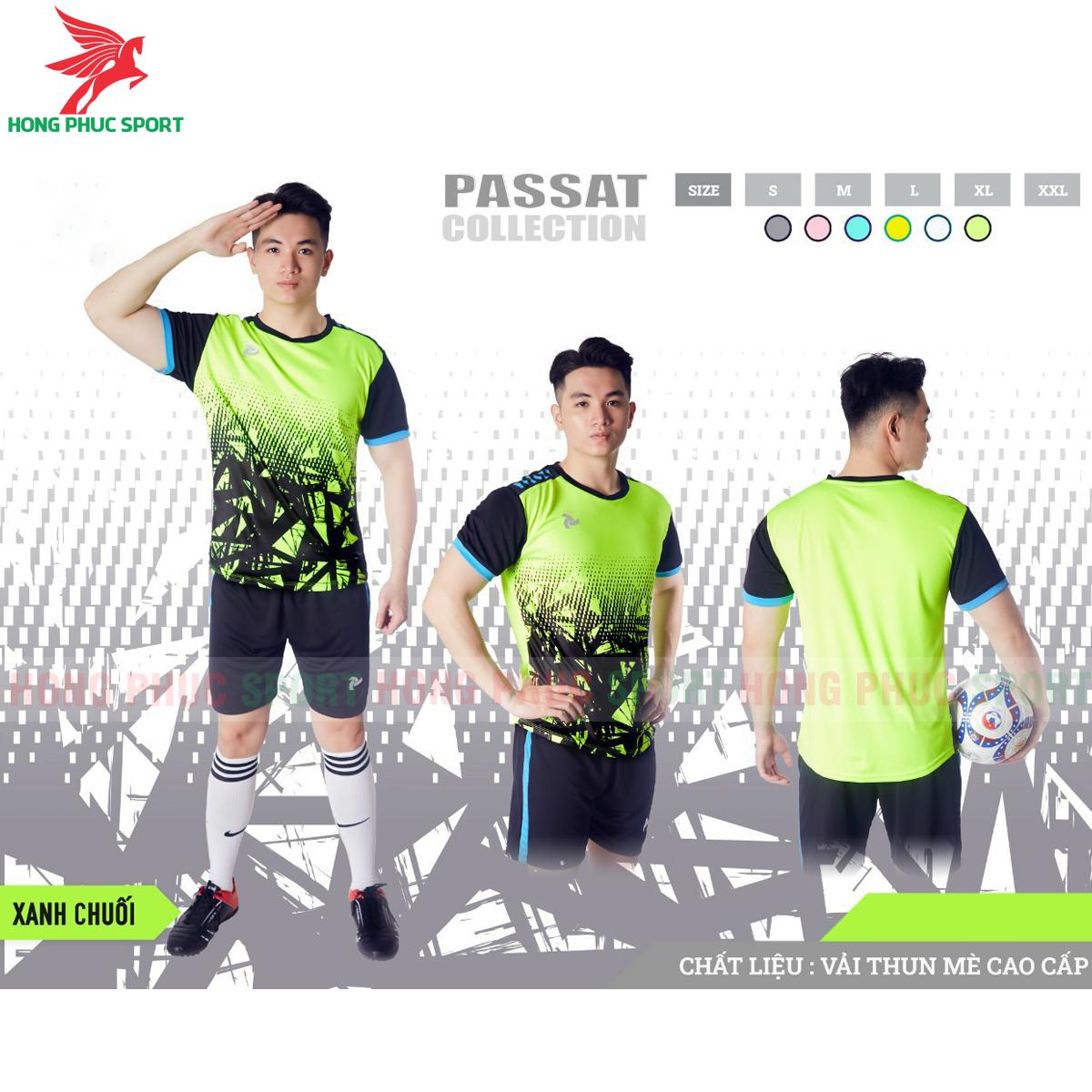 Áo đấu không logo Justplay Passat 2021 màu xanh chuối