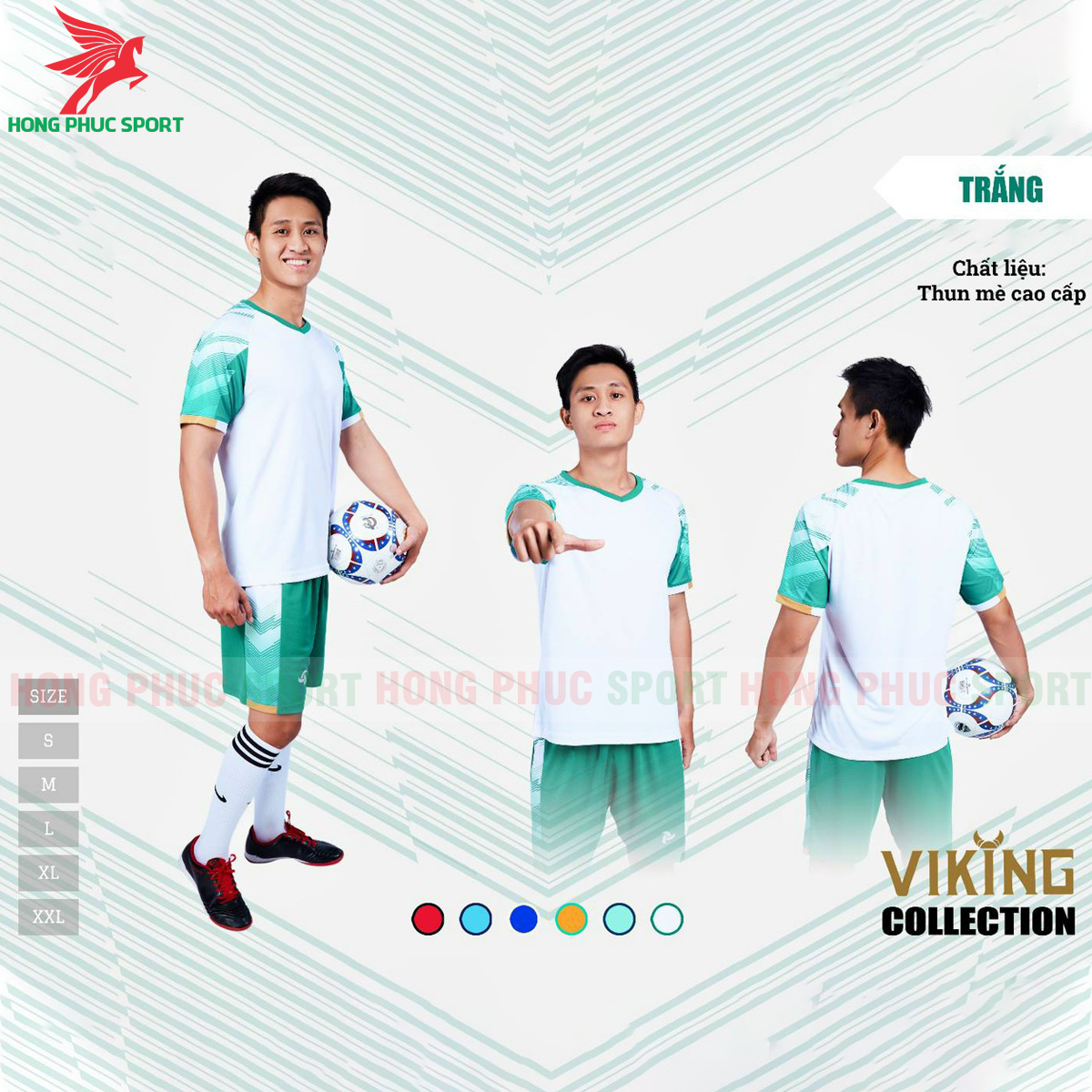 Áo đấu không logo Justplay Viking 2021 màu trắng