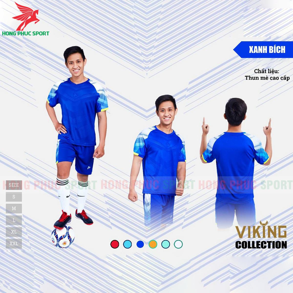 Áo đấu không logo Justplay Viking 2021 màu xanh dương