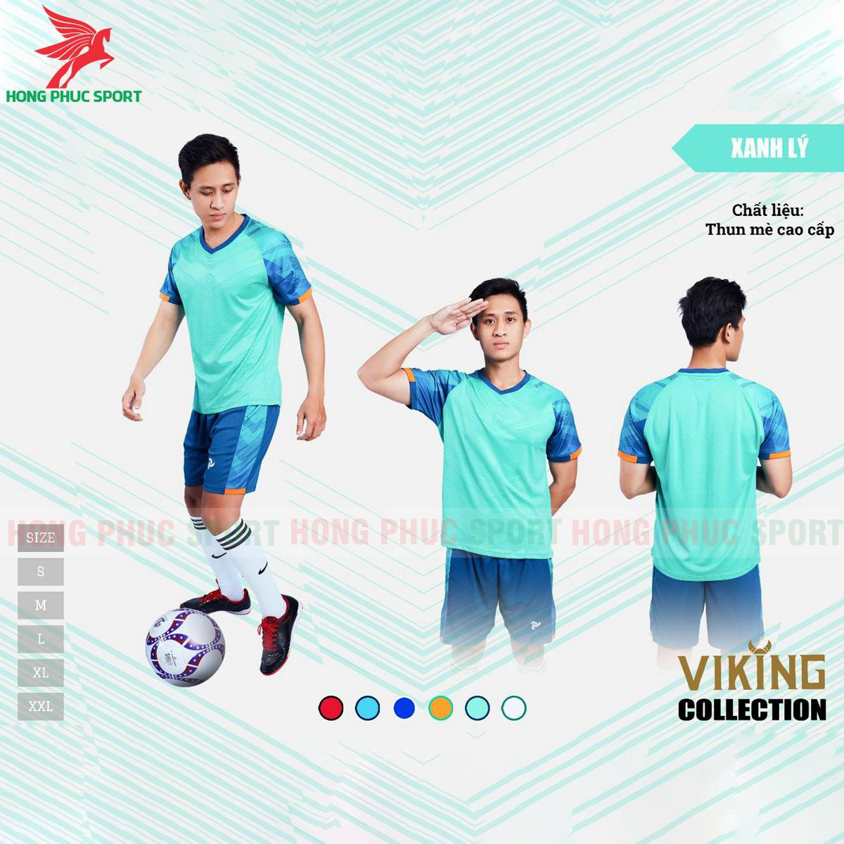 Áo đấu không logo Justplay Viking 2021 màu xanh ngọc