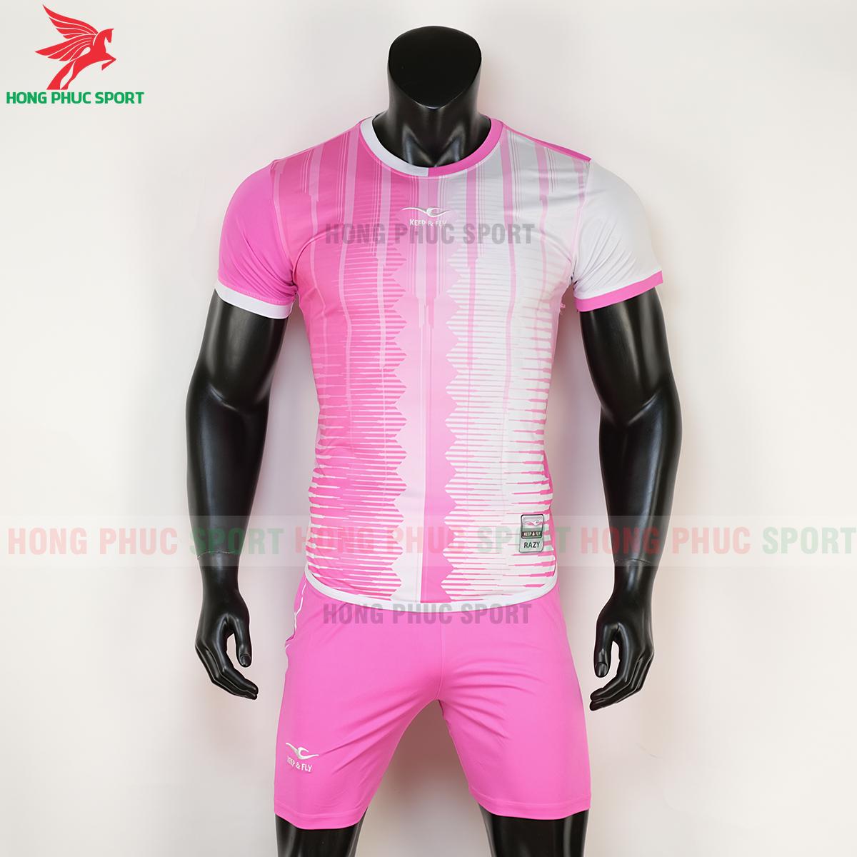 Áo Keep&Fly Razy 2020 hồng trắng (trước)