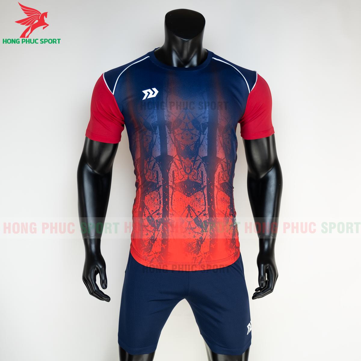 Áo đá banh không logo Bulbal Hades 2021 màu đỏ (trước)