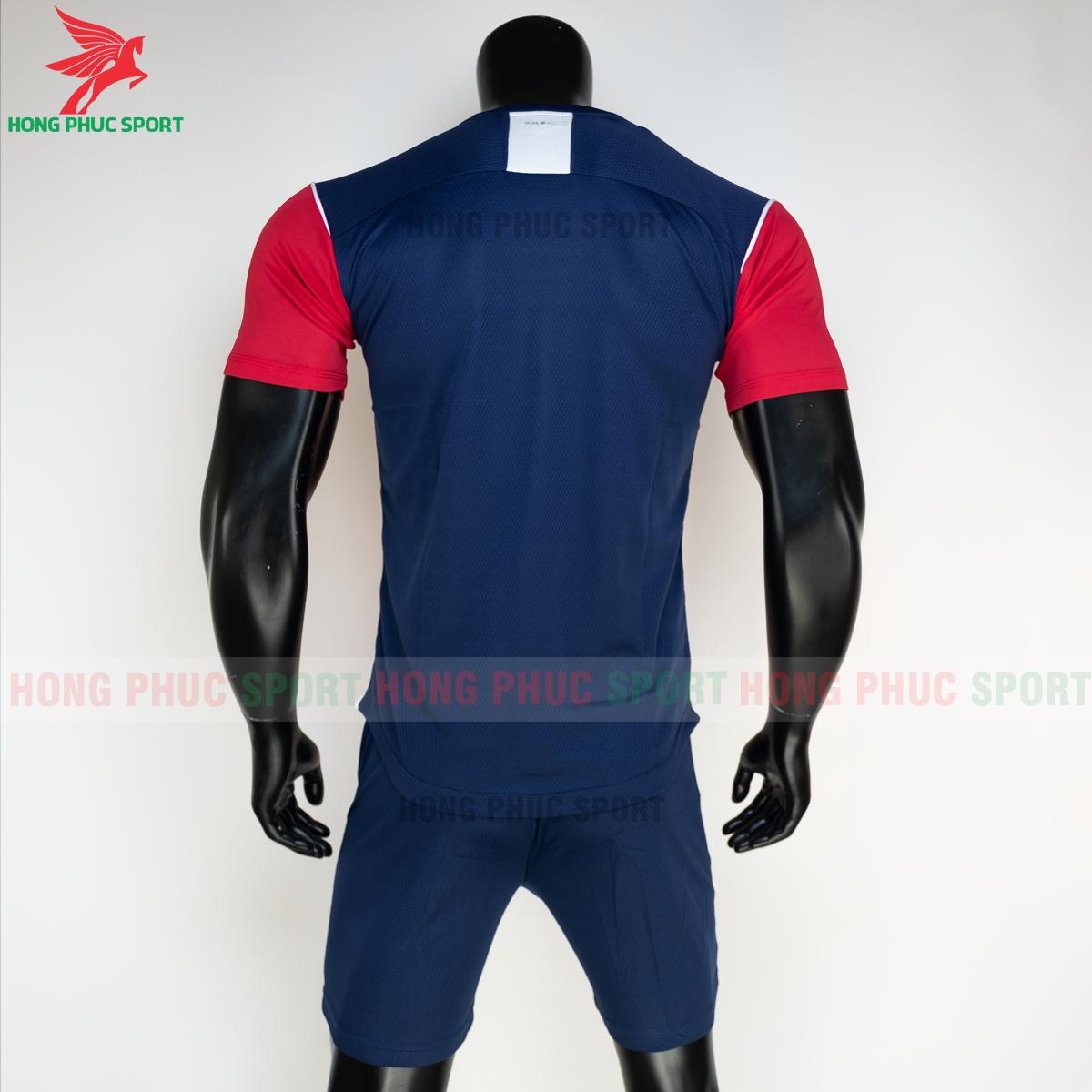 Áo đá banh không logo Bulbal Hades 2021 màu đỏ (sau)
