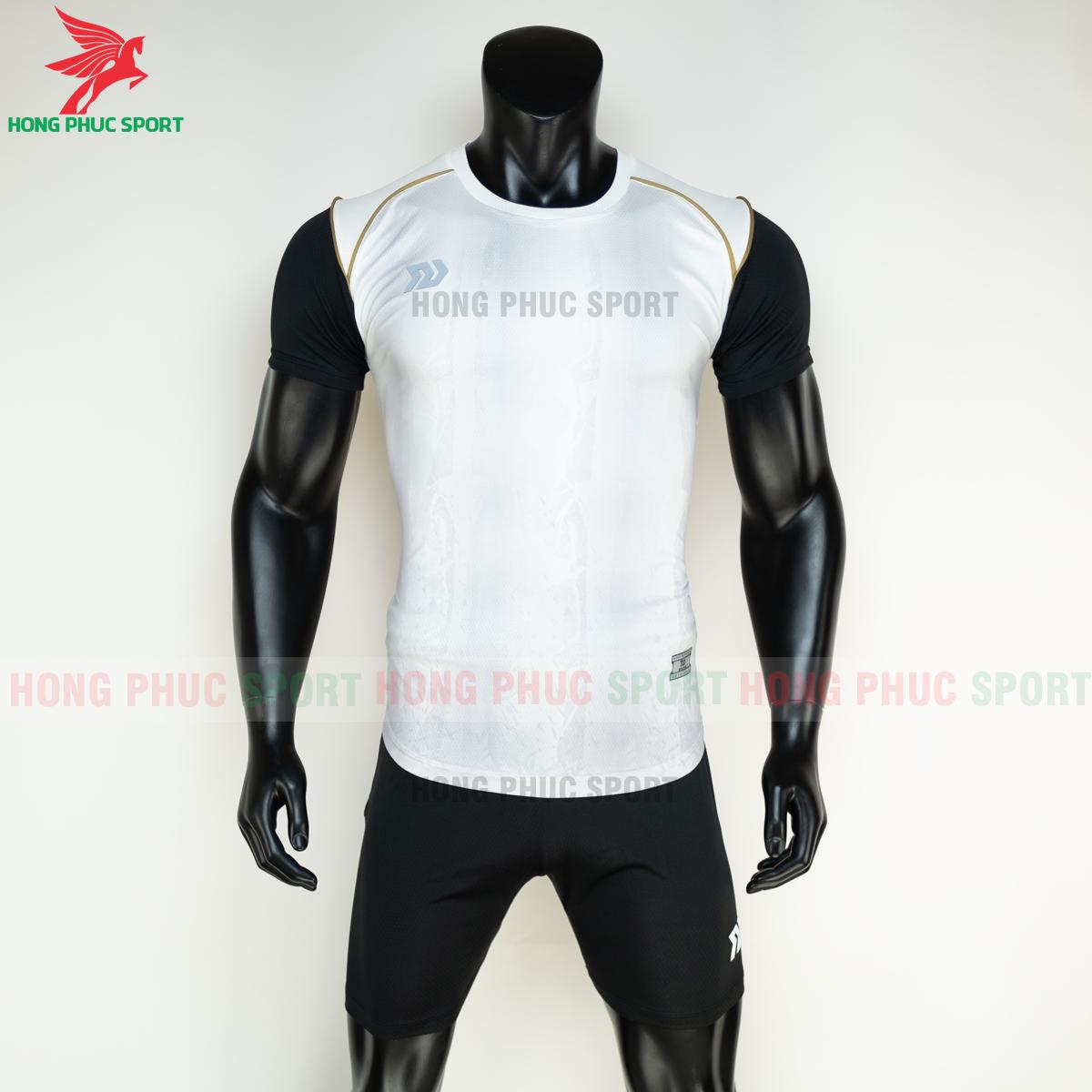 Áo đá banh không logo Bulbal Hades 2021 màu Trắng (trước)
