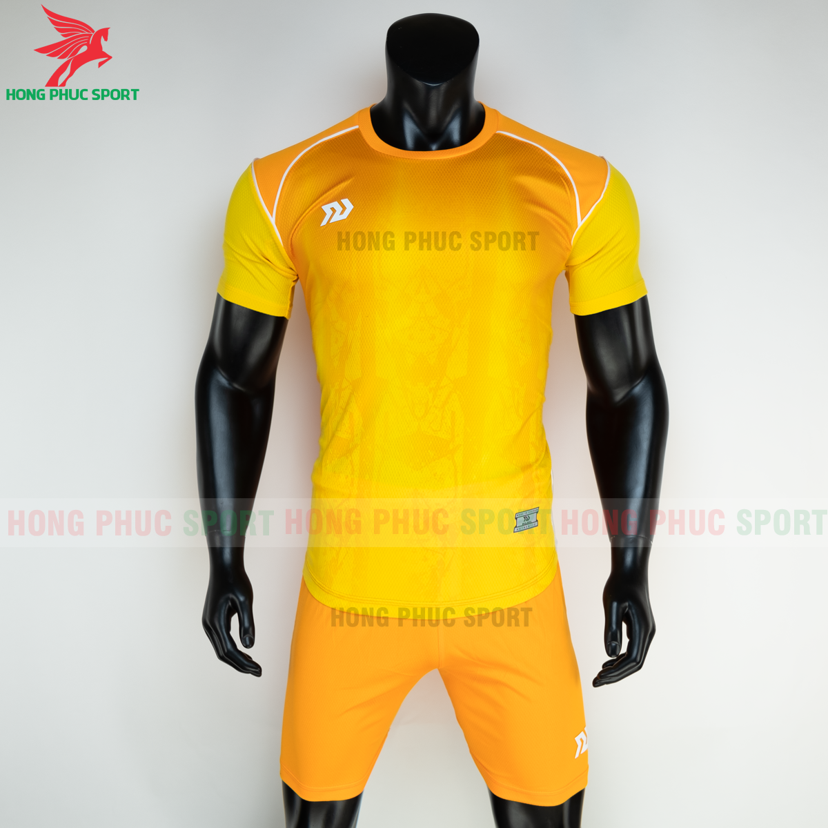Áo đá banh không logo Bulbal Hades 2021 màu vàng (trước)