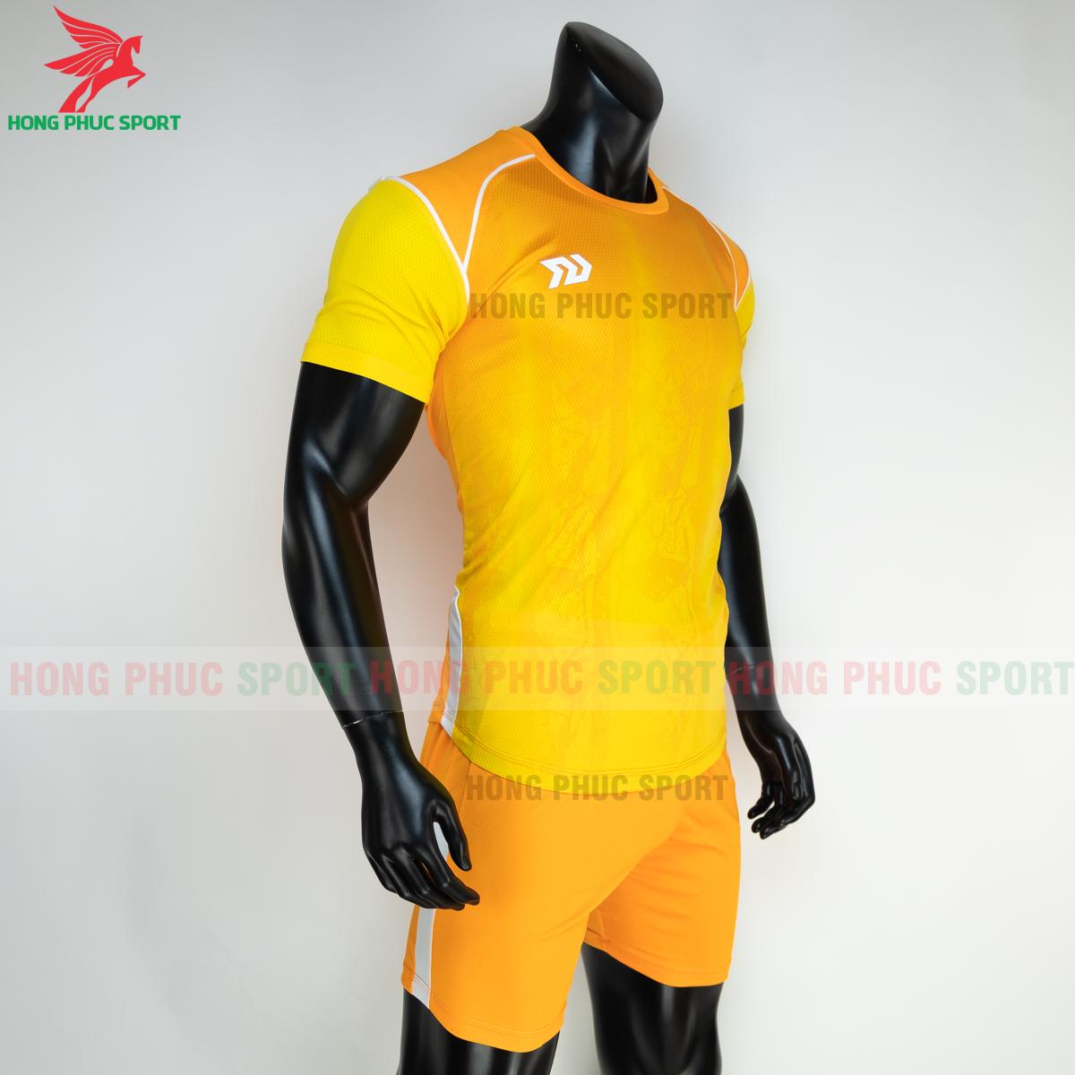 Áo đá banh không logo Bulbal Hades 2021 màu vàng (phải)
