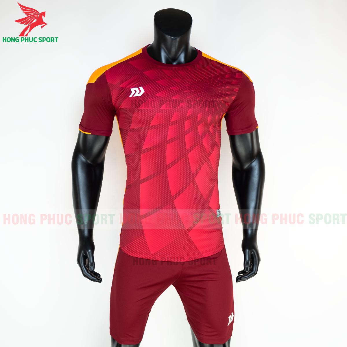 Áo đá banh không logo Bulbal Lotus 2021 màu đỏ (trước)