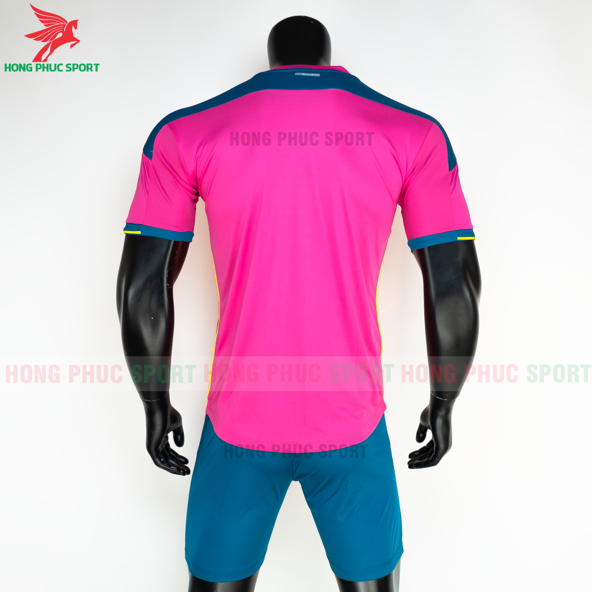 Áo đá banh không logo Bulbal Lotus 2021 màu Hồng (sau)