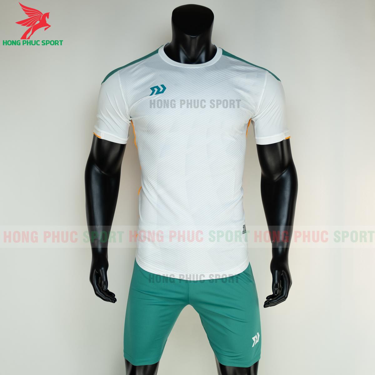 Áo đá banh không logo Bulbal Lotus 2021 màu Trắng (trước)