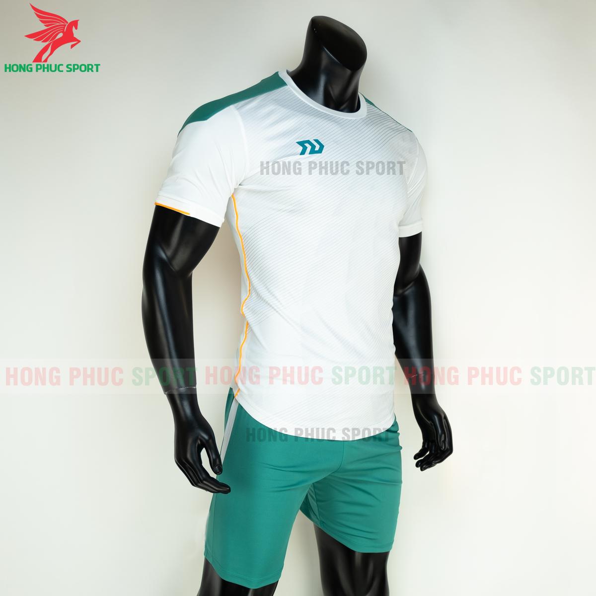 Áo đá banh không logo Bulbal Lotus 2021 màu Trắng (phải)
