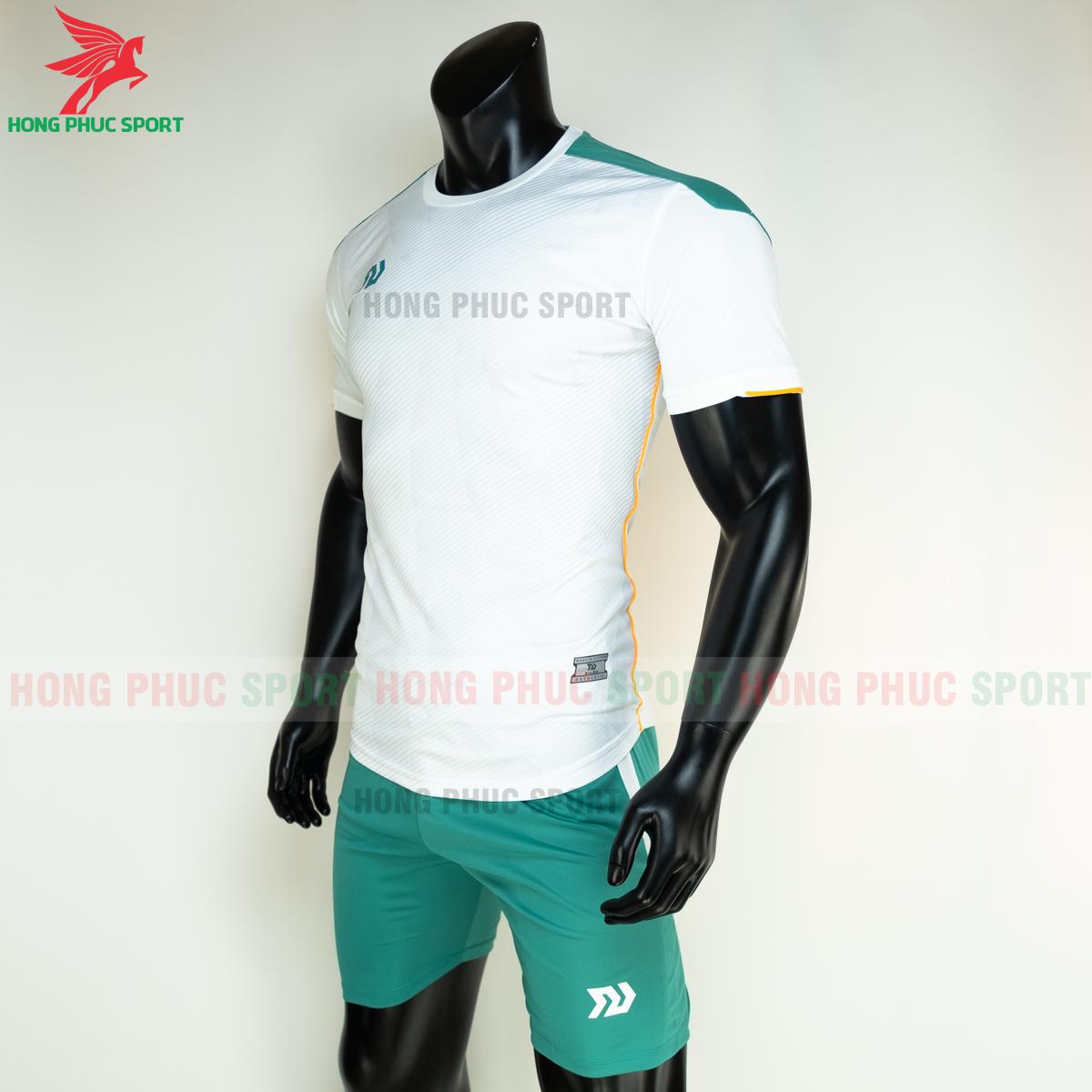 Áo đá banh không logo Bulbal Lotus 2021 màu Trắng (trái)