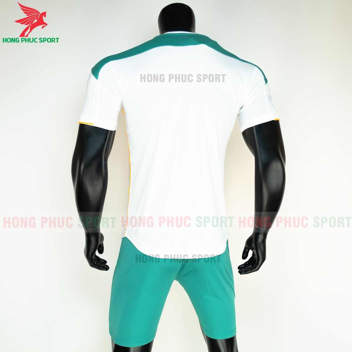 Áo đá banh không logo Bulbal Lotus 2021 màu Trắng (sau)