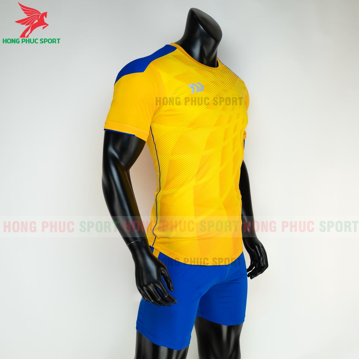 Áo đá banh không logo Bulbal Lotus 2021 màu Vàng (phải)