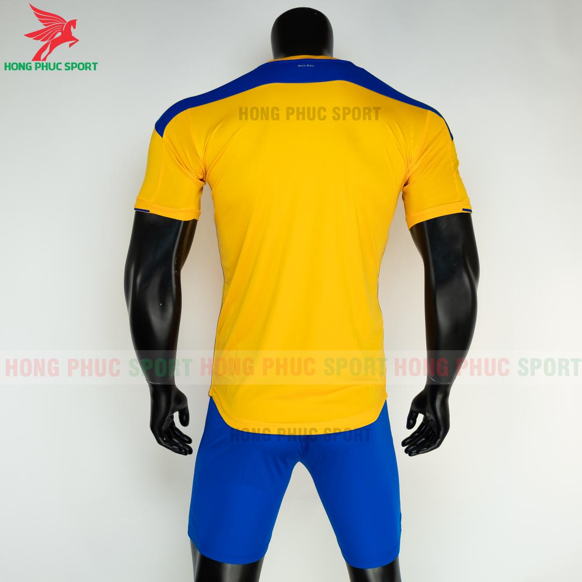 Áo đá banh không logo Bulbal Lotus 2021 màu Vàng (sau)