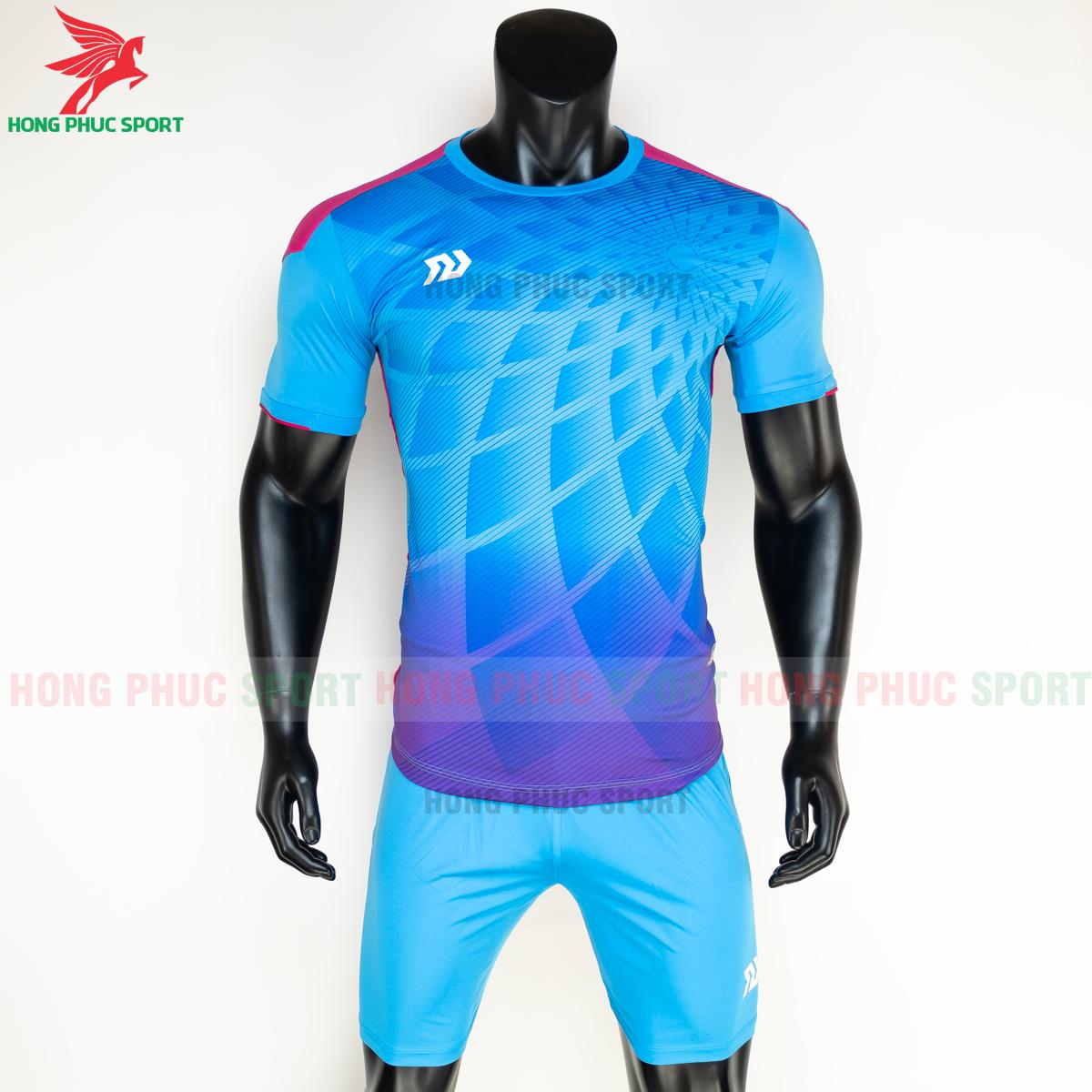 Áo đá banh không logo Bulbal Lotus 2021 màu Xanh (Trước)