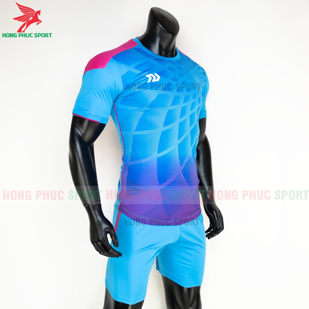 Áo đá banh không logo Bulbal Lotus 2021 màu Xanh (phải)