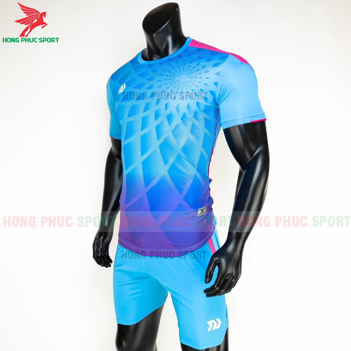 Áo đá banh không logo Bulbal Lotus 2021 màu Xanh (trái)