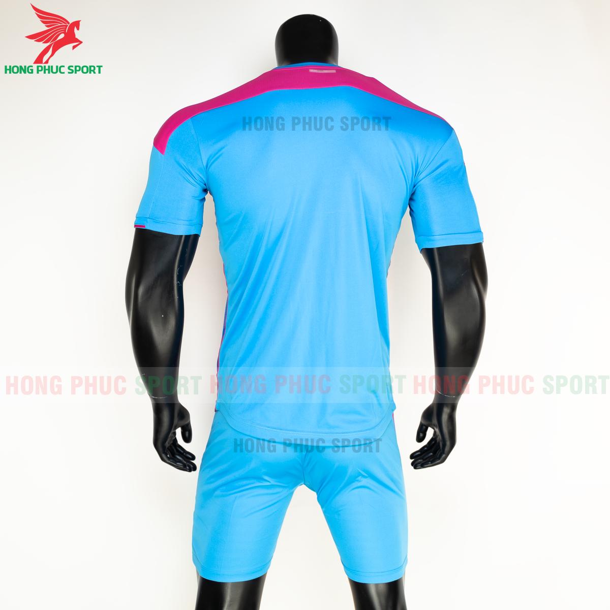 Áo đá banh không logo Bulbal Lotus 2021 màu Xanh (Sau)