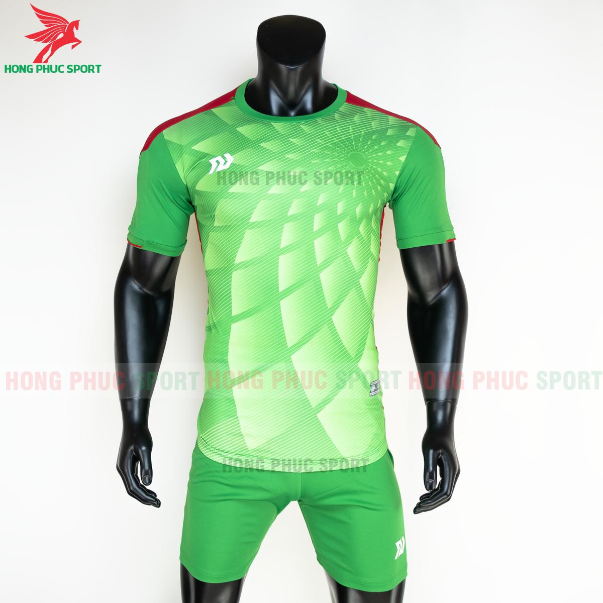 Áo đá banh không logo Bulbal Lotus 2021 màu Xanh lá (Trước)
