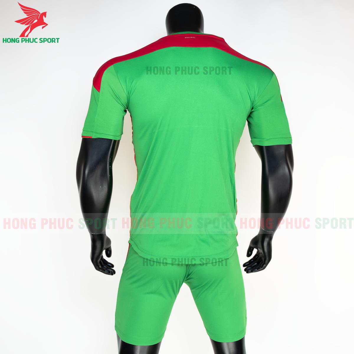 Áo đá banh không logo Bulbal Lotus 2021 màu Xanh lá (sau)