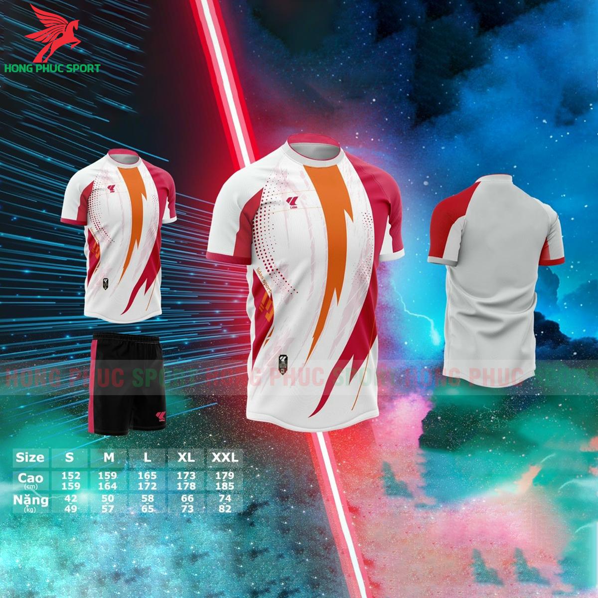 Áo bóng đá không logo Lidas Passionmàu đỏ phối cam